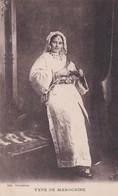 JUDAICA  .MAROC.Type De Marocaine (en Costume Traditionnel De JUIVE Marocaine) - Judaisme