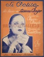 CAF CONC PIANO GF PARTITION CHANT SI PETITE LUCIENNE BOYER PIERRE BAYLE GASTON CLARET 1932 SOBOL - Musica & Strumenti