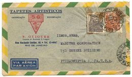 Brazil 1947 Airmail Cover Rio De Janeiro To Philadelphia, Pennsylvania - Brazil