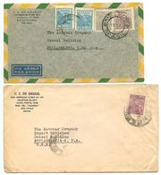 Brazil C.1940's 2 Covers São Paulo To Philadelphia PA, The Autocar Company - Brazil