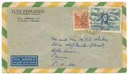 Brazil 1946 Airmail Cover São Paulo To Allentown, Pennsylvania - Brazil