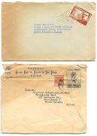 Brazil C.1940's 2 Covers To Providence, Rhode Island - Freemasons Hall - Brazil