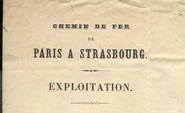 1854 ENTETE CHEMIN DE FER PARIS à STRASBOURG à Saint Dizier   Pour André Maître De Forges à Cousances Aux Forges V.SCANS - Francia