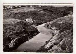CP 10*15-L1294-LOCMARIA BELLE ILE VUE AERIENNE PORT MARIA 1963 - Belle Ile En Mer