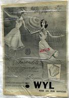 """{10484,13} Publicité """" Wyl """", Du Paris Match N° 290 (1954).  """" En Baisse """" - Pubblicitari"""