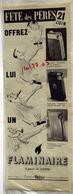 """{10477,05} Publicité """" Flaminaire """", Du Paris Match N° 222 ( 1953).  """" En Baisse """" - Pubblicitari"""