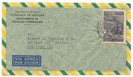 Brazil 1949 Airmail Cover São Paulo To U.S. W/ Scott C67 Rotary International - Brazil