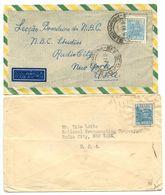 Brazil 1940's 2 Covers To New York, NY - National Broadcasting Company - Brazil
