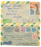 Brazil 1949/51 2 Airmail Covers Aracaju, Sergipe & Rio De Janiero To U.S. - Brazil