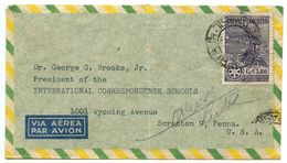 Brazil 1949 Airmail Cover São Paulo To Scranton PA W/ Scott C67 Rotary International - Brazil