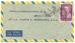 Brazil 1949 Airmail Cover Campinas To Scranton PA W/ Scott C77 Joaquim Nabuco - Brazil