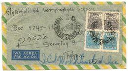 Brazil 1949 Registered Airmail Cover São Paulo To Scranton PA W/ Scott 661 & 666 - Brazil