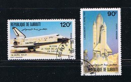 Space - Columbia - Shuttle Around The Earth, Complete Set Of 2 - Space