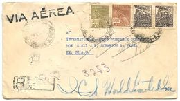 Brazil 1949 Registered Airmail Cover Campinas To Scranton, Pennsylvania - Brazil