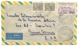 Brazil 1949 Airmail Cover P. Rio Branco To Scranton PA W/ Scott 664 & C69 - Brazil