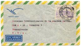 Brazil 1949 Airmail Cover São Paulo To Scranton PA W/ Scott C69 Hotel Quitandinha - Brazil
