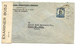 Brazil 1941 Censor Cover Rio, PROPAC To Cleveland OH Euclid Road Machinery Co. - Brazil