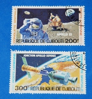 Space Apollo 11-Soyuz Moon Landing Spaceship Complete Set Of 2 - Space