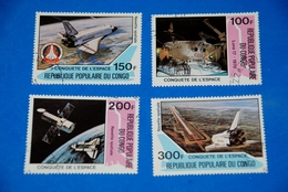 Space - Luna 17 - Shuttle - Columbia - Moon - Spaceship Complete Set Of 4 - Space