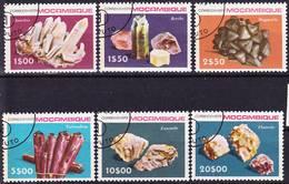 2017-0438 Mocambique 1979 Minerals Complete Set Mi 712-717 Used O - Mineralien