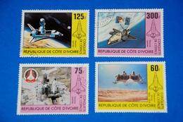 Space Shuttle Columbia Viking Moon Orbit Spaceship Complete Set Of 4 - Space