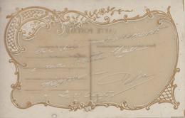 CPA Fantaisie  Carte Celluloïd Transparente (avec Joli Décor Art Nouveau) - Cartes Postales