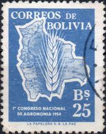 BOLIVIA 1954 - RIFORMA DELL'AGRICOLTURA - 1 VALORE USATO - Bolivia