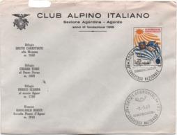 Agordo (Belluno) 08.09.1968: Annullo 80° Congresso Nazionale Club Alpino Italiano Su Busta C.A.I. - Organizations