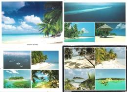 Maldiven - Maldives - 4 Cards - Islands Views - Nice Stamps - Maldives
