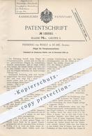 Original Patent - Frédéric Ter Weele , St. Dié , Frankreich 1906 , Flügel Für Vorspinnmaschine | Spinnmaschine , Spinnen - Documenti Storici