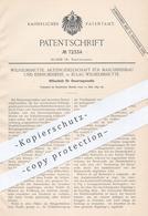 Original Patent - AG Für Maschinenbau & Eisengiesserei , Eulau - Wilhelmshütte , 1893 , Steuerungsventil | Dampfmaschine - Documenti Storici