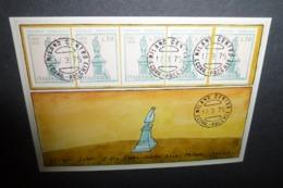 Carte Postale - Illustration Folon - Enveloppe De Folon, Pour Giorgio Soavi - 1975 - Folon