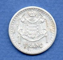Monaco  -  1 Franc  -  état  TTB - Monaco