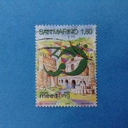 2009 SAN MARINO FRANCOBOLLO USATO STAMP USED - MEETING AMICIZIA TRA I POPOLI - - San Marino