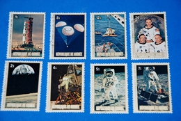 Space - Apollo II - Moon Armstrong Rocket Spacecraft Complete Set Of 8 - Space