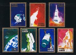 Space Apollo 16 Flight Blast-off, Capcule Moon, Complete Set Of 7 - Space