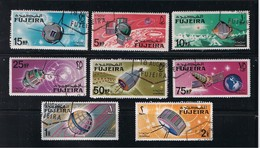 1966 Space - Spacecraft Explorer 6,7 Vanguard I, Lunik 3 Complete Set Of 8 - Space