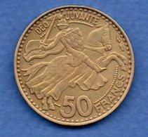 Monaco  -  50 Francs 1950 -  état  TTB - Monaco