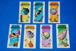 Space 1965 - Satellites - Spaceship - Rocket Complete Set Of 7 - Space