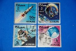 Space 1966 - Atlas Rocket, Gemini - Capsule, Glenn, Grissom Set Of 4 - Space