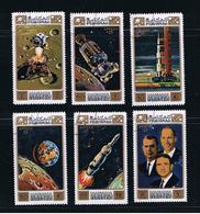 Space - Apollo 15 - Worden, Scott, Irwin - Orbit Moon Earth Flight, Set Of 6 - Space