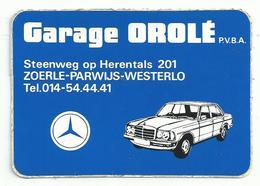 Sticker - Garage OROLE - Steenweg Op Herentals - Zoerle Parwijs Westerlo - Mercedes - Stickers