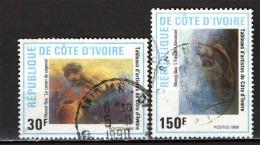 COSTA D'AVORIO - 1988 - DIPINTI DI ARTISTI IVORIANI - USATI - Costa D'Avorio (1960-...)