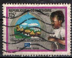 COSTA D'AVORIO - 1983 - ABOUISSA - VILLAGGIO DI BAMBINI - USATO - Costa D'Avorio (1960-...)