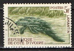 COSTA D'AVORIO - 1964 - PESCE - FISH - LAMANTINO - USATO - Costa D'Avorio (1960-...)