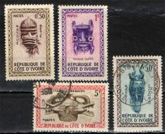 COSTA D'AVORIO - 1960 - MASCHERE DELLE TRIBU' DELLA COSTA D'AVORIO - USATI - Costa D'Avorio (1960-...)