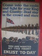 POSTER-United Kingdom-217x306mm-Militaria (K-2) - Books, Magazines, Comics