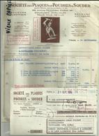 46 - Lot - Souillac - Trémerolles - Facture Sté. Plaques à Souder - Laffitte- Delmas - Ligot - Lachèze -Réf.25 - Francia