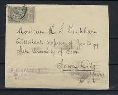 N°63 GESTEMPELD OP OMSLAG NAAR U.S.A. COB € 90,00 SUPERBE - 1893-1900 Barba Corta
