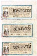 Obligation Ancienne - 3 Coupons N°10 Obligation Extérieure Or 7% 1929 - Emprunt De Stabilisation Et De Développement - Aandelen